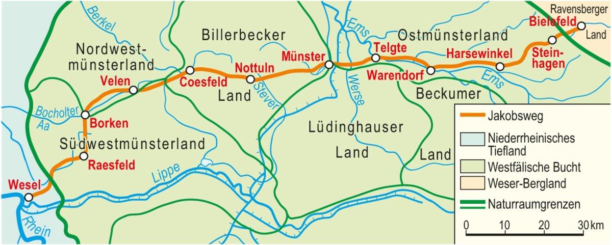 Jakobsweg Karte Deutschland.Jakobsweg Parklandschaft Kreis Warendorf